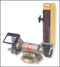 "Two machines in one, 7"" bench grinder with a 2"" x 48"" belt sander. Use in vertical or horizontal position"