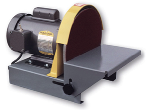 "10"" table top disc sander. With optional MG10 mitre gauge"