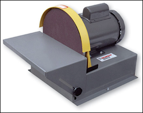 "12"" disc sander. Heavy-duty, wilt a all steel tilt table."