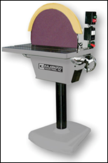 "20"" floor disc sander with a 2HP, 3 PH, 220 or 440V and 1740 RPM, tilt table w/mitre gauge."